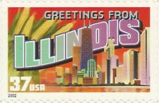 US 3708 Greetings from Illinois 37c single MNH 2002