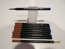 10 Schmidt 888 Rollerball FINE BLUE Refills- Fit most Rollerball Pens+ FREE PEN