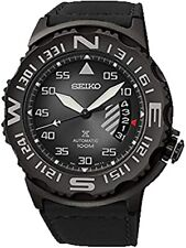 NEW SEIKO MENS PROSPEX BLACK STAINLESS STEEL WATCH STYLE # SRP579 MSRP $475
