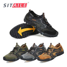 Men Water Shoes Quick Dry Aqua Camp Shoes for Beach River Bed Boatting Kayaking