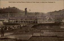 Coney Island Cincinnati OH Steamer Ship Island Queen 1909 Used Postcard