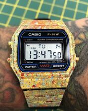 CUSTOM Casio F91W Classic Digital RETRO Sports Alarm Stopwatch Pre Order
