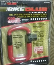 NEW The Bike Club Compact Secure Anti Theft Adjust Lock 3 Key Guarentee