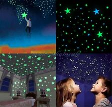 100Pcs Wall Stickers Home Decor Glow In The Dark Star sticker For Kids room
