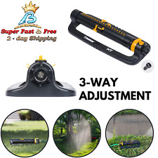 Oscillating Adjustable Lawn Sprinkler Water Sprayer Range Watering Garden 3 Way