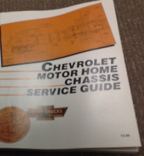 1988 1989 Chevrolet Motor Home Chassis Service Guide Manual OEM GM Factory OEM