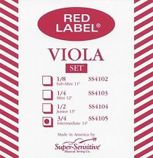 """Super Sensitive Red Label 14"""" Viola String Set"""