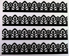 15 Martha Stewart Garden Gate Borders Paper Punch Shape - Black