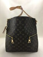 Louis Vuitton LV M41544 Melie Shoulder Hand Tote Bag Monogram Brown Ex++