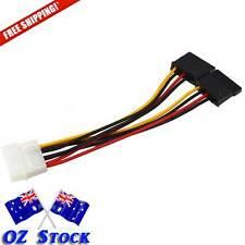 2 x 4 Pin IDE to Serial  ATA SATA Hard Drive Power Cable Splitter - OzStock