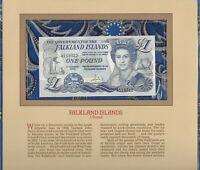 Most Treasured Banknotes Falkland 1984 1 pound P-13 UNC Prefix A