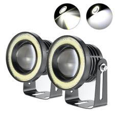 3.5 in COB LED Projector Angel Eye Light Halo Ring Fog Drive Lamp Car SUV White