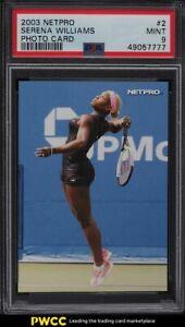 2003 Netpro Tennis Photo Card Serena Williams ROOKIE RC #2 PSA 9 MINT