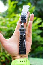 Garmin fēnix Fenix 3 Stainless Steel Metal Wrist Strap Watch Band Black Color
