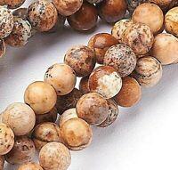 Natursteine Picture Jaspis Perlen 6mm Kugel Edelsteine Schmuckstein G783