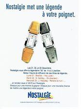 Publicité Advertising 087  1998  radio Nostalgie   gagnez une montre concours