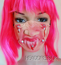 Nails Face Comedy Latex Half Face Mask Costume Fancy Dress Party