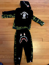 A Bathing Ape, Bape Kids Boy Hoodies Size 110, 4-5 Plus Shirt And Sweatpants