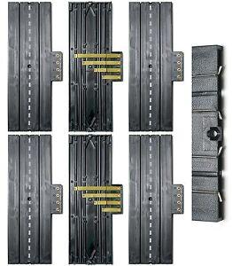 "6pc Aurora Slot Car 9"" STRAIGHT 4-Screw TERMINAL TRACK Lock & Joiner 1520 Unused"