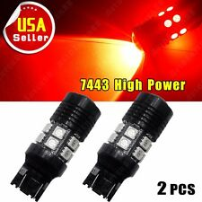 2 X 7443/7440 Red High Power 7W High Power LED Brake Tail Stop Lights Bulbs