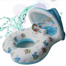 Inflatable Mother & Baby Swim Ring Float Raft Kids Seat Swimming Pool Summer UK