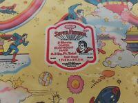 Vintage Gift Wrap Sheets - Super Friends