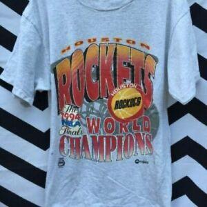 Houston Rockets Vintage Ice Grey T-Shirt Unisex size S-3XL comfortable TK1031