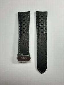 Oris Leder Uhrenarmband mit Titan-Faltschließe - 22 mm - Ref. 07 5 22 87