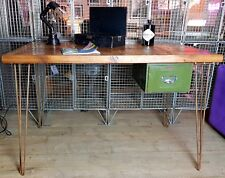 Desk, Wooden, reclaimed wood, wooden top, office desk, unique, handmade, custom