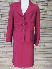 Jones Wear Sz 12 Skirt Suit Career Lightweight cranberry