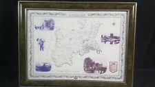 """22"""" X 16.25"""" Framed Map and Photographs of Middlesex in Victorian Times"""
