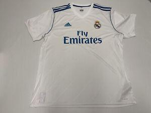 NWT Men's Adidas Real Madrid 2017 Sz XL Short sleeve White Soccer Jersey