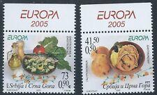 SERBIA & MONTENEGRO 2005 SG143-144 Europa Set Mint MNH With Tabs