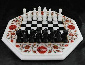 """15 Inches Marble Coffee Cum Game Table Top for Chess Lovers with King Size 2.5"""""""