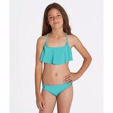 2017 NWT GIRLS BILLABONG SOL SEARCHER FLUTTER SWIM SET $50 10 paradise blue