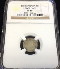 1900 5 Cent Canada 5 Cents NGC  VF25