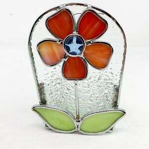 YANKEE CANDLE Stained Glass Flower Power Tealight tea light candle holder