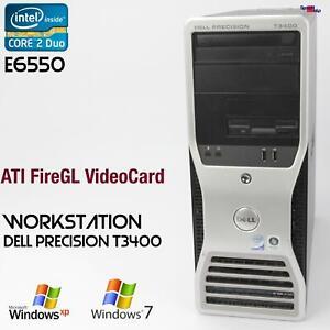 Work Station Dell Precision T3400 Computer PC Parallel RS-232 Ati Firegl V3600