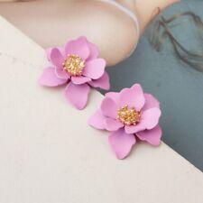 Fashion Pearl Double Layer Flower Drop Dangle Earrings Ear Stud Jewelry Lady HOT