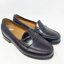 Rockport Penny Loafers Burgundy Mens Size 8 W Wide