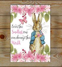 Peter Rabbit, Nursery Lightweight aluminium wall sign... Aluminium Signs
