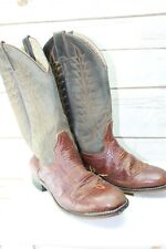 Tony Lama 3.5 D Brown Green Leather Boy's Western Boots