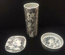 "3 Vintage Nymolle Bjorn Wiinblad -  7"" Vase, Bowl, Square Dish - FREE SHIPPING"