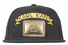 Karl Kani Iconic Metal Plate Embroidery White Black Gold Snapback OSFA Tupac