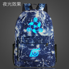 Anime Cartoon NARUTO Sharingan Luminous Student Schoolbag Backpack Travel Bag