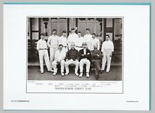 CRICKET  -  UNMOUNTED CRICKET TEAM PRINT - WARWICKSHIRE - 1895