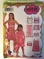 Girl's Sundress Simplicity 0543 Lizzie McGuire sizes K5 7-14 pattern uncut
