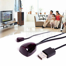 IR Infrared Remote Control Receiver Extender Repeater Emitter USB Adapter Black