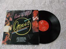 """Opus Live is life 12"""" mixes LP Album  Canada pressing"""