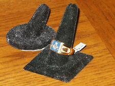 NEW Men's Masonic Ring Sz. 14 10K Gold Plated Mason